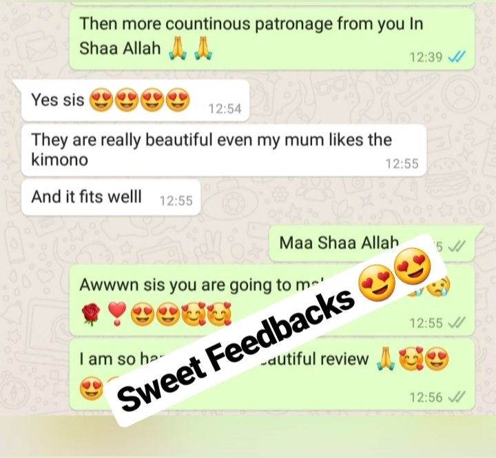 Feedbacks #Customers feedbacks #customers satisfaction #Abaya #Abaya Kimono #muslimah  #covered chic #hassy_collections #fashionista shophijab#shopscarf#modesty# hijabfashion #hijabstyle#scarves #enterpreneur#abujabusiness #womenwears #covered and beautiful #Hijabspic.twitter.com/TW9DW0iNjP