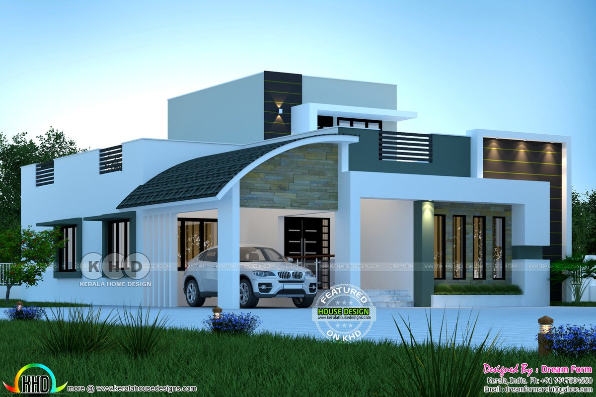 Kerala Home On Twitter Budget Friendly Mixed Roof House Https T Co V6uewuz5nh