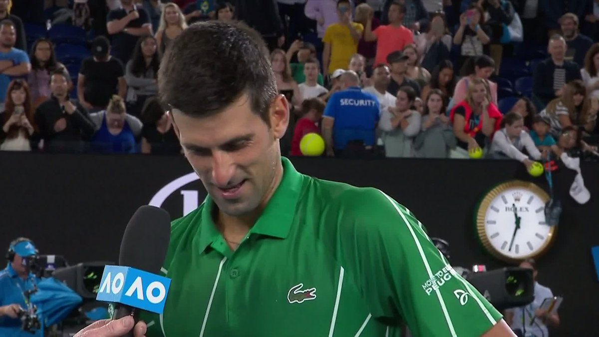 Image for the Tweet beginning: World number two @DjokerNole is