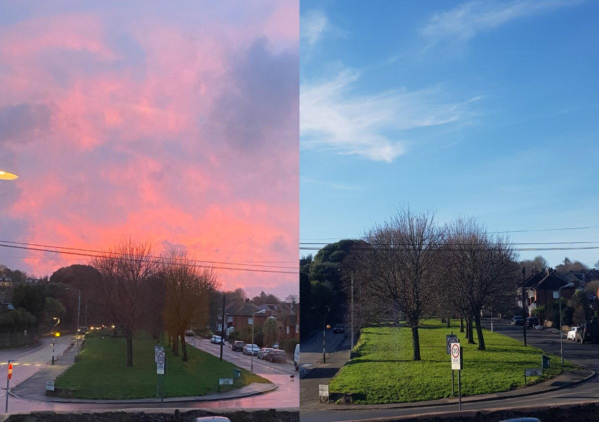 From pink hues on Friday to crisp blue on #mondaymorning  - the ever changing view from our #office window!  Wishing everyone a productive week ahead!  Need some architectural input, designs, advice?  01392 459777/mail@hmad.co.uk   #exeter #architects #devon #sustainabledesign pic.twitter.com/OHk4Pmh4ia
