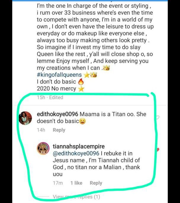 Bad energy stay far away.....Quick rebukingTiannah thoughThat evil pitch fork keeps pushing them to pitch their tents everywhere.They never stop seeking validation & acceptance,always disturbing sane people.What a joke!.Delusional lotsClowns#Bbnaija <br>http://pic.twitter.com/7aNdsgzzbq
