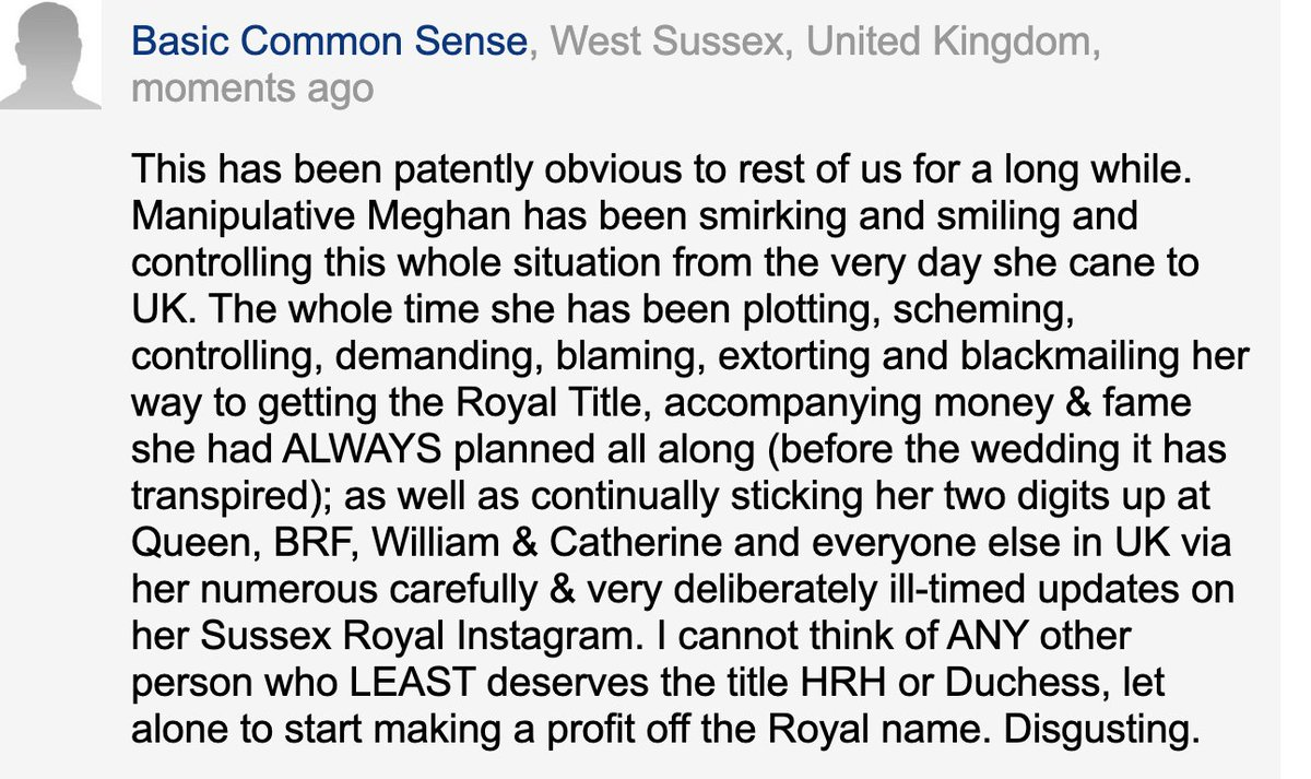 This person states how I feel about this mess better than I ever could. #MeghanMarkle #Megxit #RoyalFamily