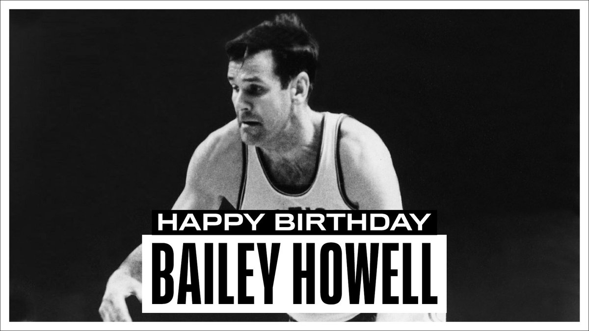 Join us in wishing a Happy 83rd Birthday to 6x #NBAAllStar, 2x NBA Champion and @Hoophall inductee, Bailey Howell! #NBABDAY
