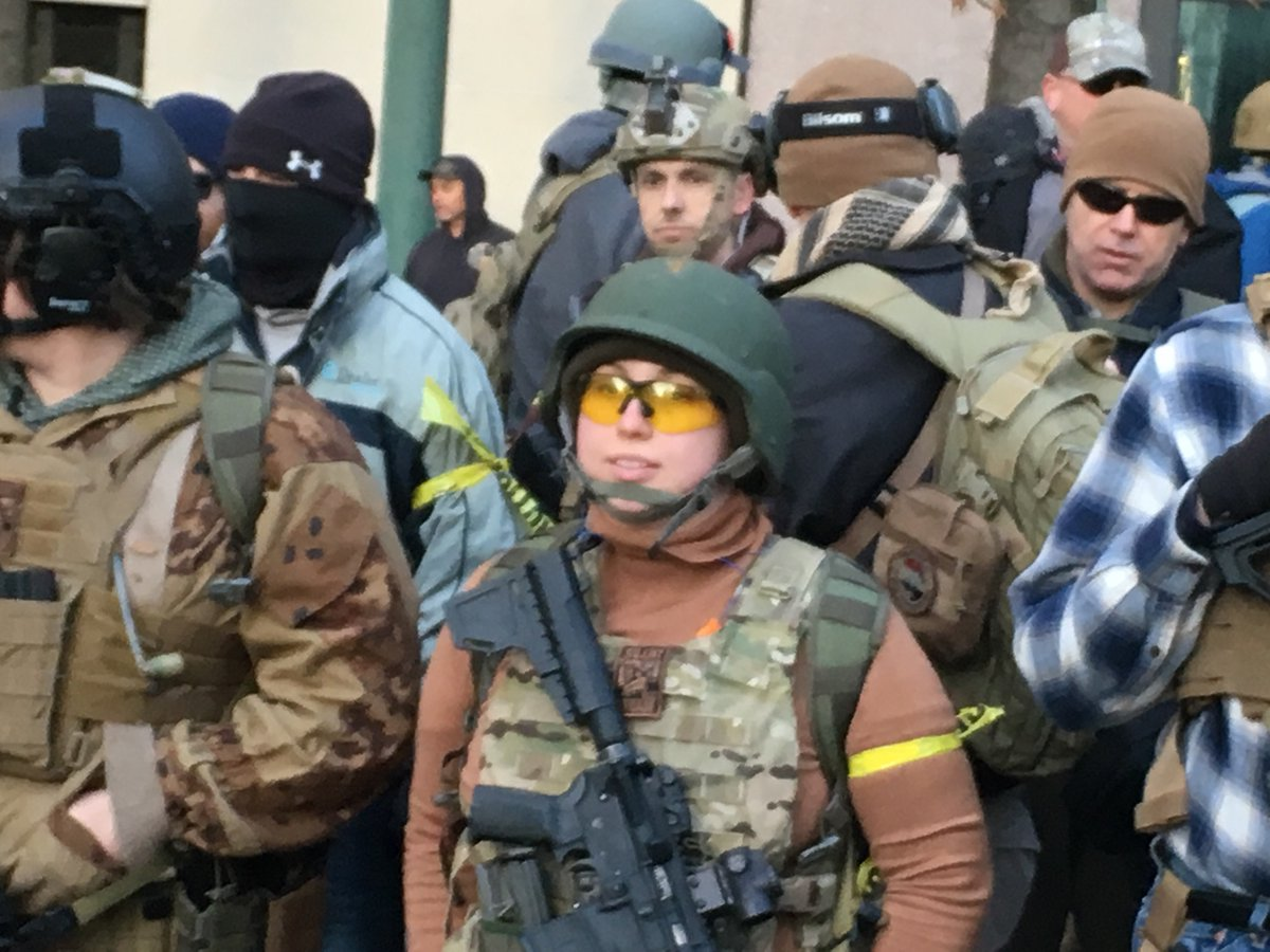 Central Virginia Militia forms up at Lobby Day in #Richmond