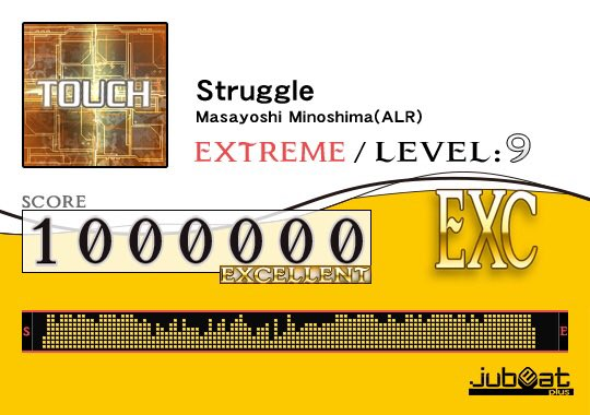 Struggleをプレー! Score:1000000 #jubeat_plus 良きかな