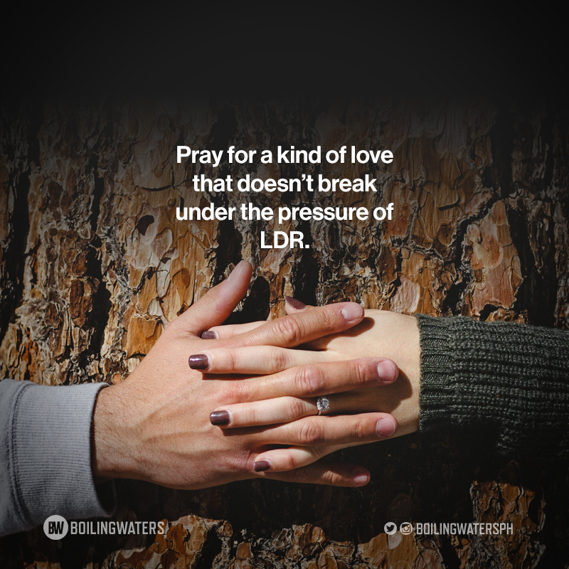 LDR is not for everyone. Dapat strong and committed ang both parties. Daming opportunites diyan to be unfaithful. Pray.   Hey follow BW on Spotify & Apple for more tips:   http:// bit.ly/BWonSpotify       http:// bit.ly/BWonApple       http:// bit.ly/BWonAnchor     <br>http://pic.twitter.com/IEfD8wGUee