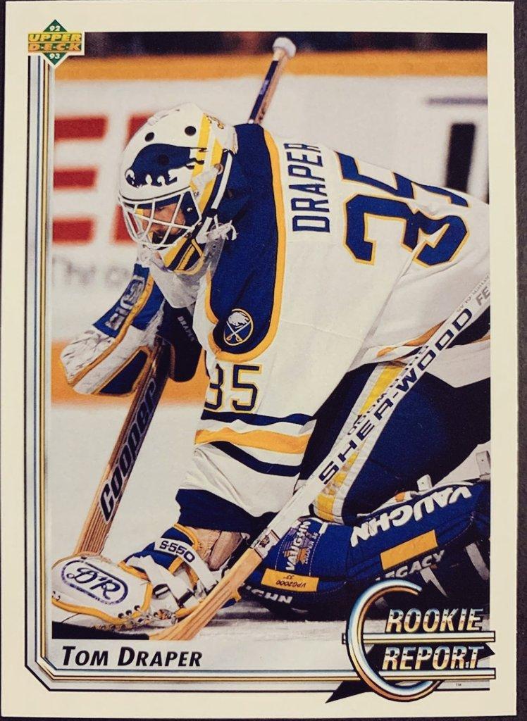 Tom Draper Buffalo Sabres Upper Deck Card @BuffaloSabres #sabres50  #NHL <br>http://pic.twitter.com/yMMJab655i