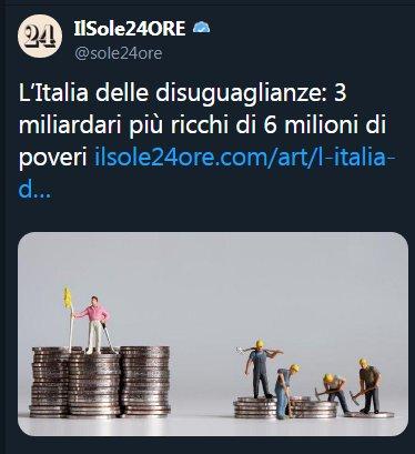 Più sottrai denaro al circolo, più aumenta la disoccupazione e più diminuiscono i salari. I miliardari di tutto il mondo e i loro giornali servi cercano, con la denuncia della disuguaglianza, di innescare la patrimoniale, che sottrarrebbe al circolo un ingente ammontare di denaro pic.twitter.com/Sdrnr7ZS7h