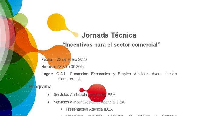 Jornada #Empresas Comercio #Incentivos Transformación digital / Registro de marca Desayuno-Networking cortesía @aytoalbolote  @oalalbolote   22ene 8:30-9:30h. Más info  inscripciones http://bit.ly/2FJdIT4 @aemprende y @IDEAJunta  @AsocASCOAL Asoc.Empr.#Juncarilpic.twitter.com/1O0Gjclpat