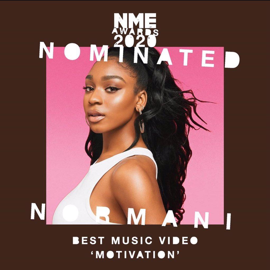 """Motivation has been nominated for """"Best Music Video"""" at the @NME awards<br>http://pic.twitter.com/Z0vlCZyLeK"""