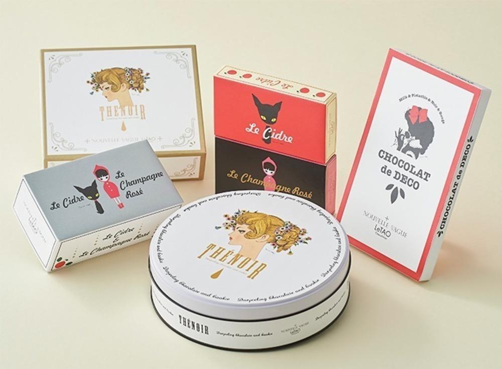 ルタオのチョコレート専門店と画家・中原淳一がコラボ、黒猫や少女を描いた限定パッケージのチョコなど -