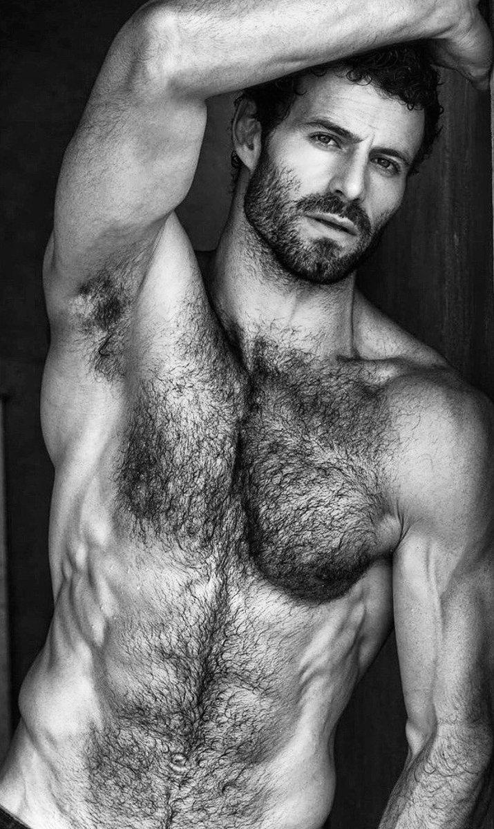 Straight hairy man
