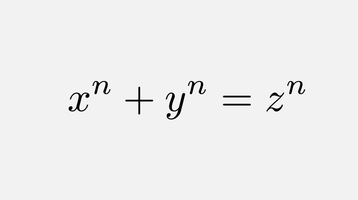 Fermat dies in 1665 - his last theorem is unsolved ↓ ⏳88 y ↓ Euler proves it for n=3 ↓ ⏳72 y ↓ Legendre & Dirichlet prove it for n=5 ↓ ⏳14 y ↓ Lamé proves it for n=7 ↓ ⏳69 y ↓ Wolfskehl offers prize for solution in the next 100 years ↓ ⏳86 y ↓ Wiles proves it 🎉