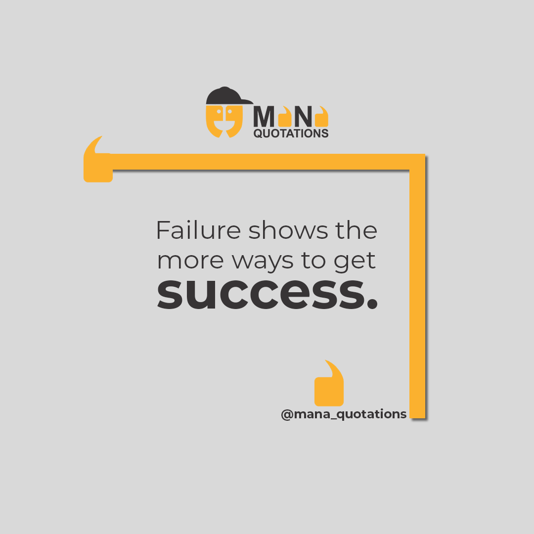 Failure shows the more ways to get success.. #Failure #Success #Quotations #Quotesoftheday #MotivationalQuotes #InspirationalQuotes #TrueQuotes #SuccessfullPeople #Quotes #MondayMotivation #ManaQuotations<br>http://pic.twitter.com/9V7V828Kui