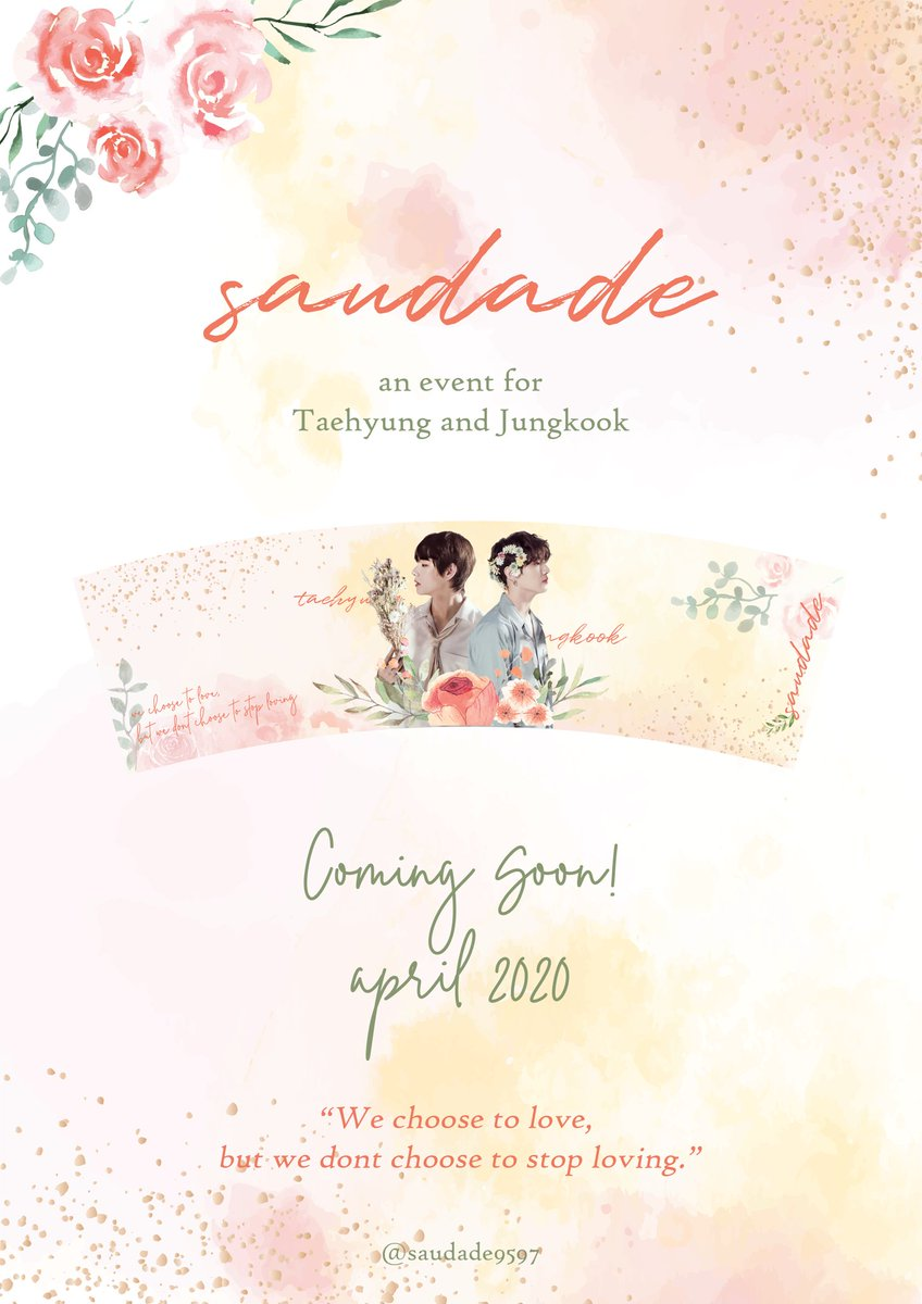 𝓢𝓪𝓾𝓭𝓪𝓭𝓮 A Cupholder Event for Taehyung and Jungkook  Comingsoon on April 2020!   #taekook #태국 #グクテテ #グテ #แทกุก<br>http://pic.twitter.com/Osr9mmsOIu