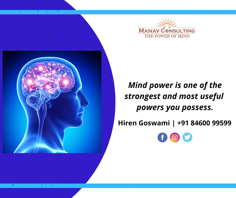 Mind Power is one of the strongest and most useful powers you possess.  Consult Mr. Hiren Goswami (Hypnotherapist) *MANAV CONSULTING* THE POWER OF MIND Call : 84600 99599 Manav Consulting  #mindset #hypnotherapy #confidence #depression #consultationpic.twitter.com/MXhaTREjC2