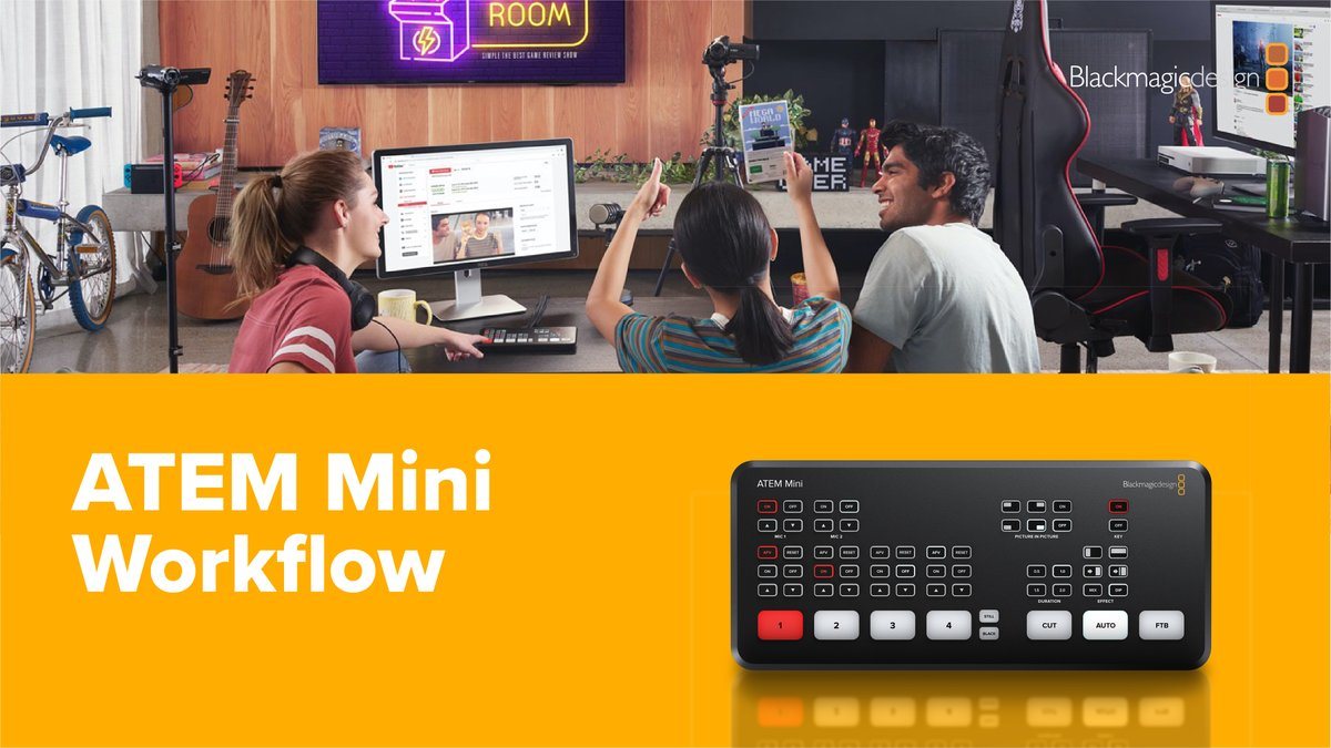 Advanced Media On Twitter Worlflow Examples For The Blackmagic Design Atem Mini The Low Cost Multi Camera Live Production With Advanced Broadcast Features Learn More Https T Co E26pgd58rb Advancedmeida Blackmagicdesign Blackmagicatemmini