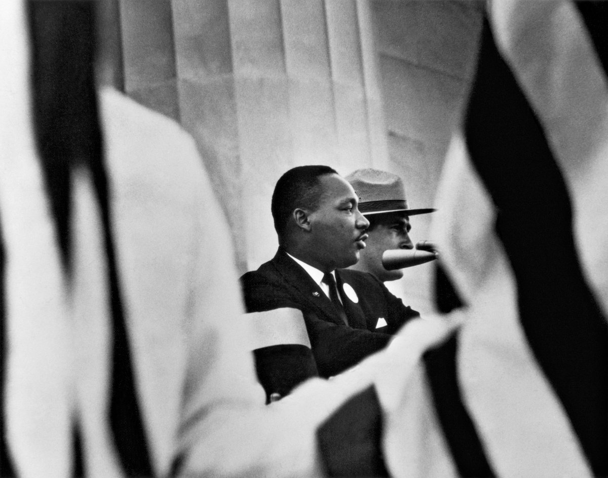 Martin Luther King, Jr.: 'If you can't fly then run, if you can't run then walk, if you can't walk then crawl, but whatever you do you have to keep moving forward' #MLKDay — Gordon Parks, 'Martin Luther King, Jr., Washington, D.C.', 1963 via Jenkins Johnson Gallery/Art Basel 2017