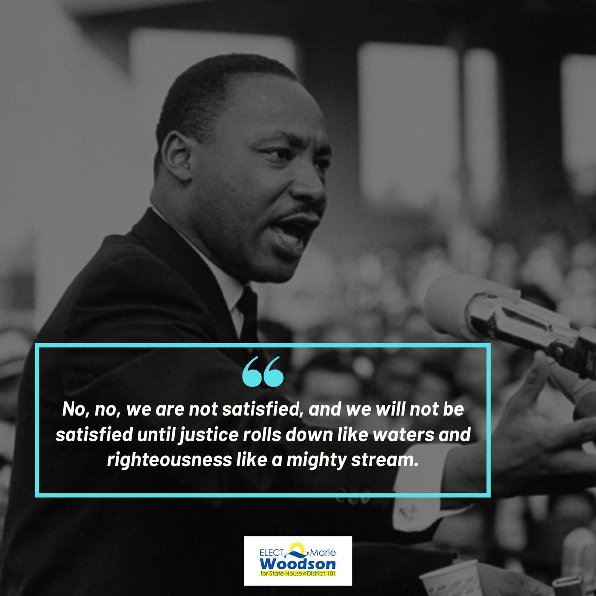 A leader who led an entire nation into peaceful protests, a leader whose voice inspired a generation to act and to this day, HIS voice continues to have a tremendous impact. ⁣ ⁣ #TeamWoodson #CivilRights