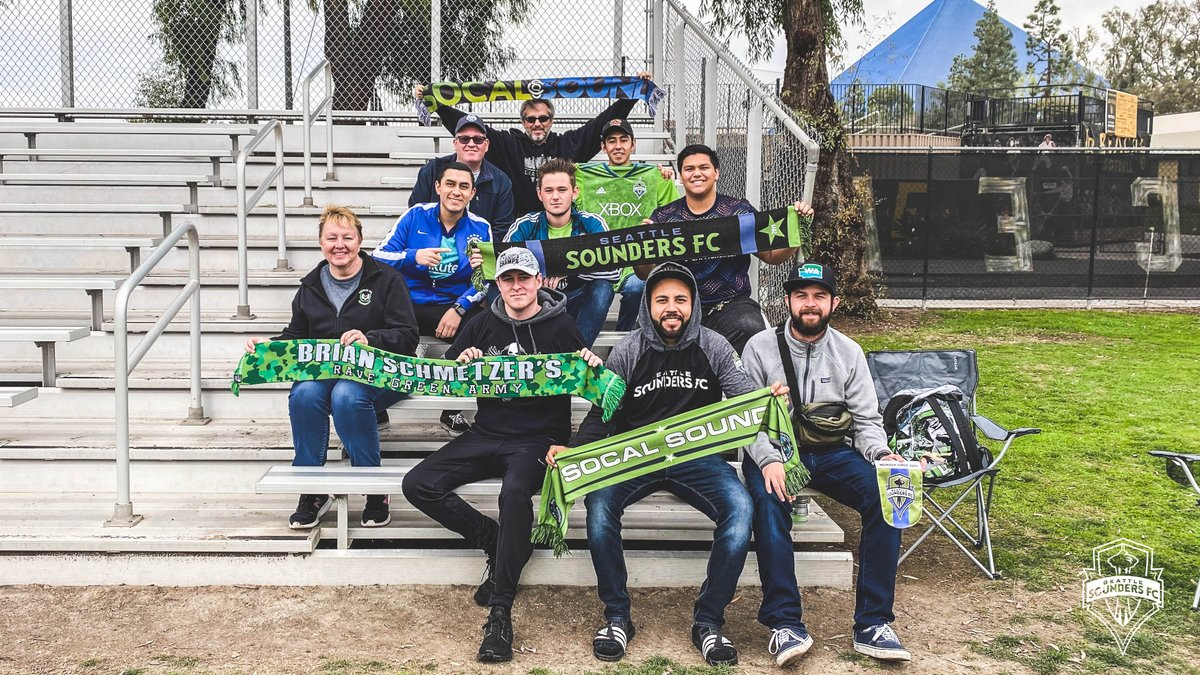 SoCal Sound. 💚 We appreciate all the support from this morning's training session!