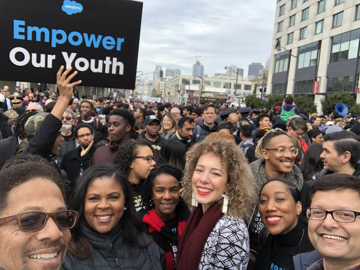 Salesforce marching with 1200+ employees in @NorcalMLK's annual #MLKDay  march. Standing as allies for justice and #EqualityForAll  <br>http://pic.twitter.com/cK9ac7jgUs