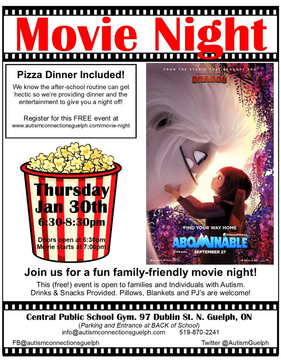 Our next Movie Night feature has been chosen! Thanks to everyone who voted. Hope to see you there! http://autismconnectionsguelph.com/movie-night  #autismawareness #AcceptanceInclusionRespect #movienight pic.twitter.com/qO9e0T3It6