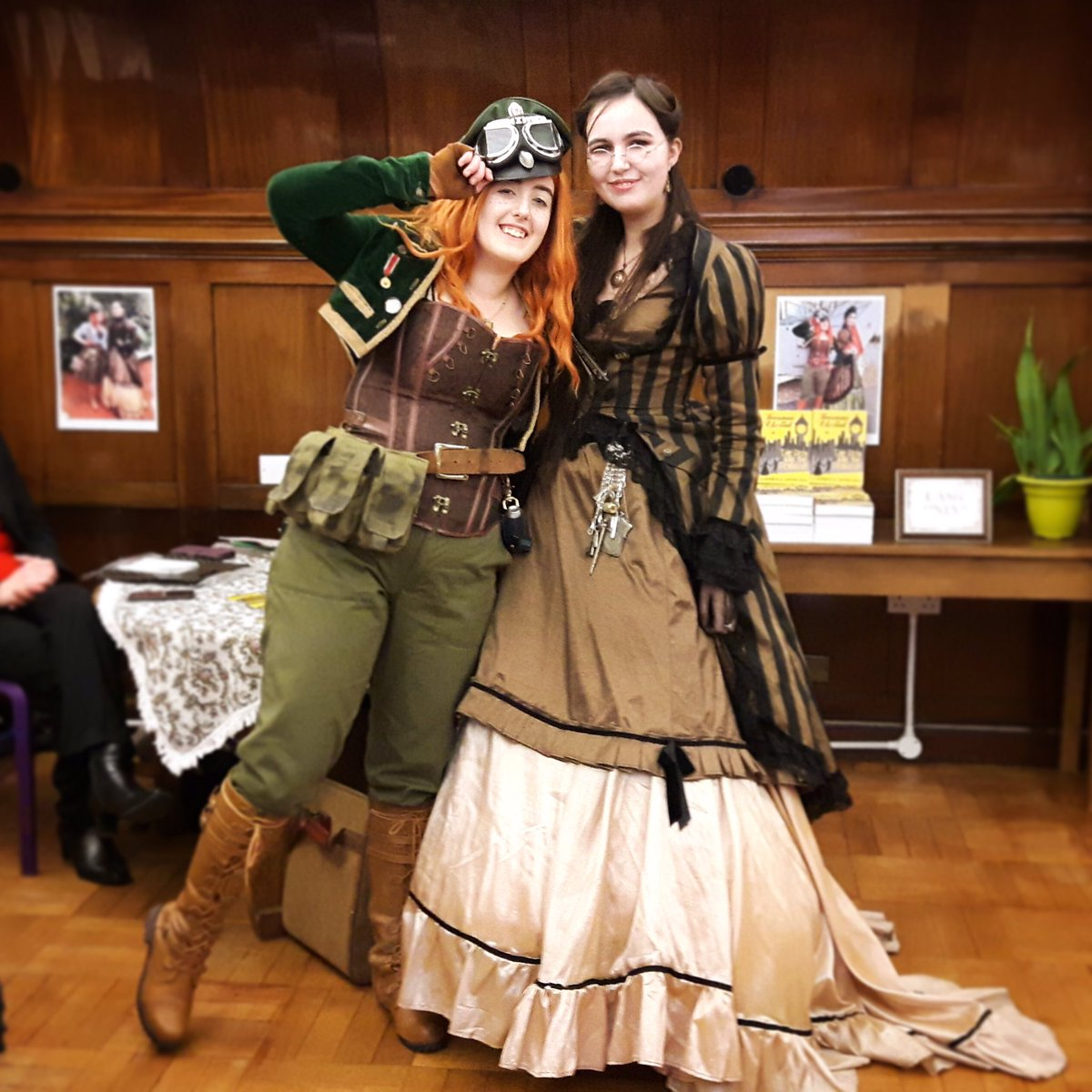 Little throwback to our authors' event at @dudleylibraries just over a week ago! Still very happy with how it went and the feedback has been amazing. We can't wait to do more with them in the future! ✈️☕️📚  #Steampunk #SteampunkBook #CoAuthors #WritingCommunity #GoodMysteryGirls