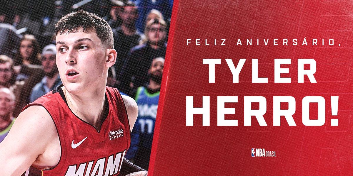 Parabéns, @raf_tyler! 🎉  O novato do @MiamiHEAT completa 20 anos nesta segunda. Quem tá curtindo a temporada de estreia da fera?  #NBABDAY #HeatTwitter
