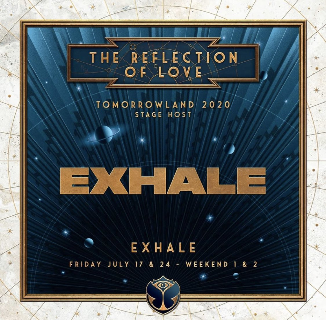 RT @AmelieLens: so excited to be hosting my own EXHALE stage both weekends at @tomorrowland 😱🤩 https://t.co/XkOiZUQiMP