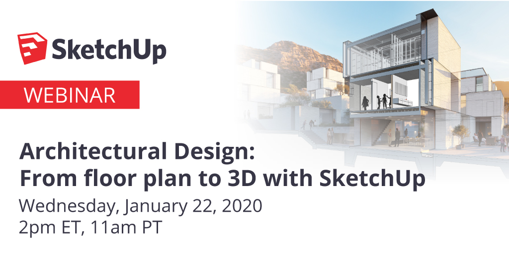 [WEBINAR] Learn how to enhance design workflows and engage with projects in 3D with #SketchUp on Jan 22. For more info or to register visit: https://bit.ly/2reoJbv #3Dmodeling #architecture #PublicSector #GovTechnologypic.twitter.com/AEad1F4iyV