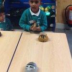 Image for the Tweet beginning: Nursery children exploring the ICT