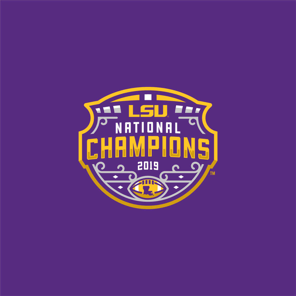 Every piece of the National Championship logo has a purpose #GeauxTigers