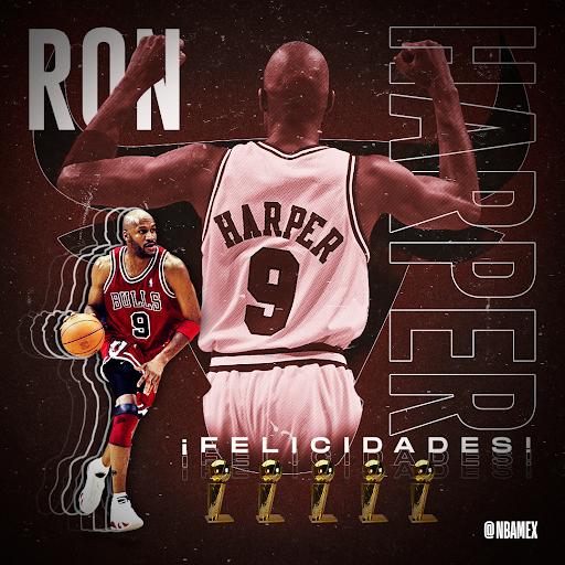 Queremos desearle un feliz cumpleaños 🎂 al 5⃣ veces campeón de la NBA. 🏆  🎊 ¡Felicidades Ron Harper! 🎊  #NBABDAY