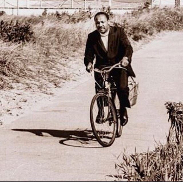 Dr. Martin Luther King Jr. was a leader of all people. As we honor Dr. King and his legacy, let us work today and every day to create a more diverse and equal cycling community. #MLKday     @bicyclefilmfestival<br>http://pic.twitter.com/hTOpqzh4vR
