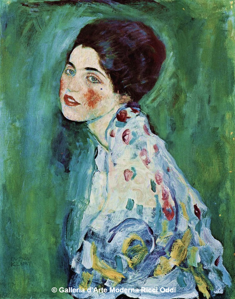 """After clearing away the ivy, the long-lost """"The Portrait of a Lady"""" by Gustav Klimt was recently discovered hidden inside the exterior wall of the same gallery it went missing from 23 years ago. It's always the last place you look!<br>http://pic.twitter.com/BkAQotJQyo"""