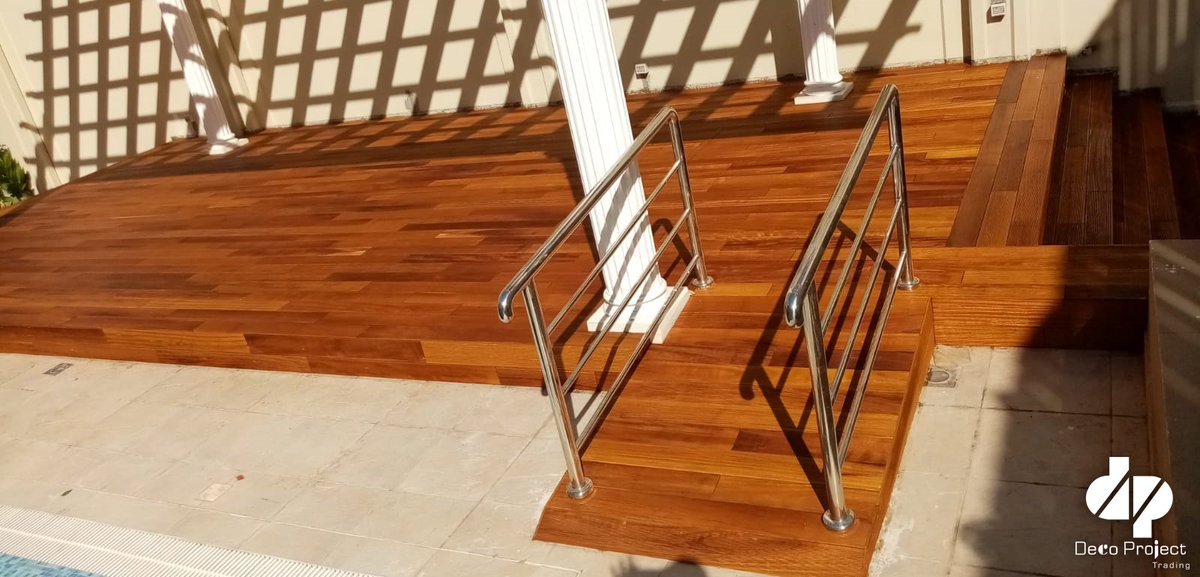 Love your floor a little more. Install Wood decking to your floor to enhance luxurious look.  #ourproject Product Category: Iroko, Decking.  http://www.decoprojectme.com  #Qatar #interiordecoration @deckingpic.twitter.com/NYu4KzAGa4