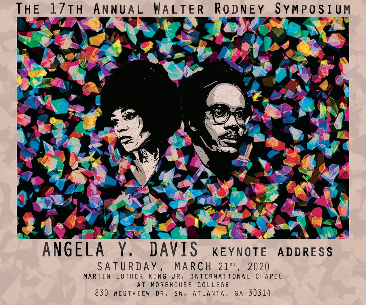 Angela Y. Davis is giving the keynote address at our annual Walter Rodney Symposium this year. Tell all your friends, family, and comrades because we want to see everyone there!