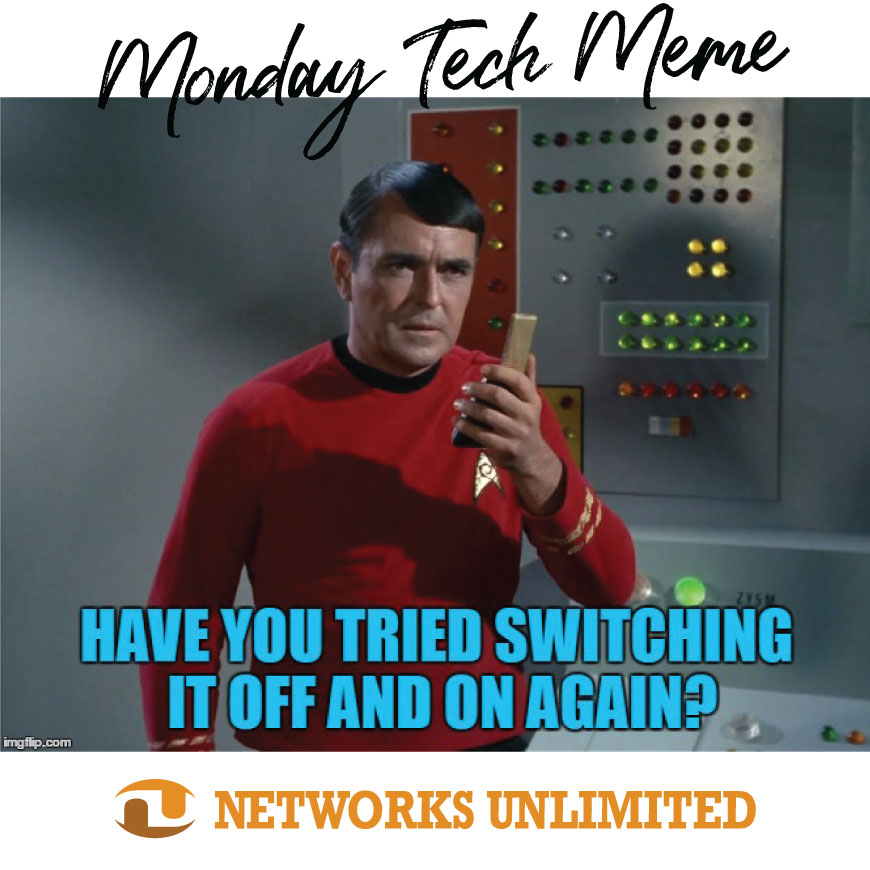 MONDAY MEME: That's a good one!! #MondayMeme #WeMakeITSimple #NetworksUnlimited #BusinessTechnology #CyberSecurity #ServiceProviders #InformationTechnology #WestSlopeBestSlope #ManagedServices #DowntownGrandJunction #ShareGJ #MyMontrose #MontroseDowntown #IT #TechMemepic.twitter.com/1w7X2JEoP1