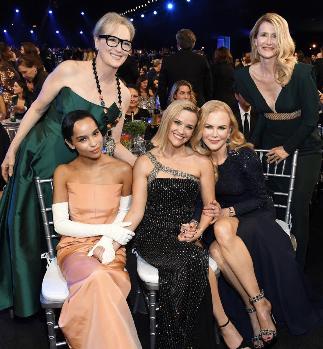 Last night was pure JOY!  I reunited with my #biglittlelies family and celebrated the incredibly well-deserved recognitions of some of my dearest friends and coworkers. Bravo to all the amazing actors... thank you for sharing your talents with the world! #sagawards<br>http://pic.twitter.com/sOa7SEg7x9