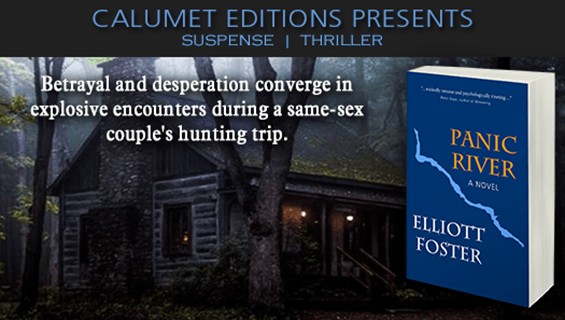 """Suspense thriller - PANIC RIVER - A gay couple's hunting trip in the Wisconsin woods turns for the worse with deadly results pic.twitter.com/oydGyiCkuvhttp://smarturl.it/PANtg?IQid=3 (Tweet supplied by Calumet Editions) ^"""""""