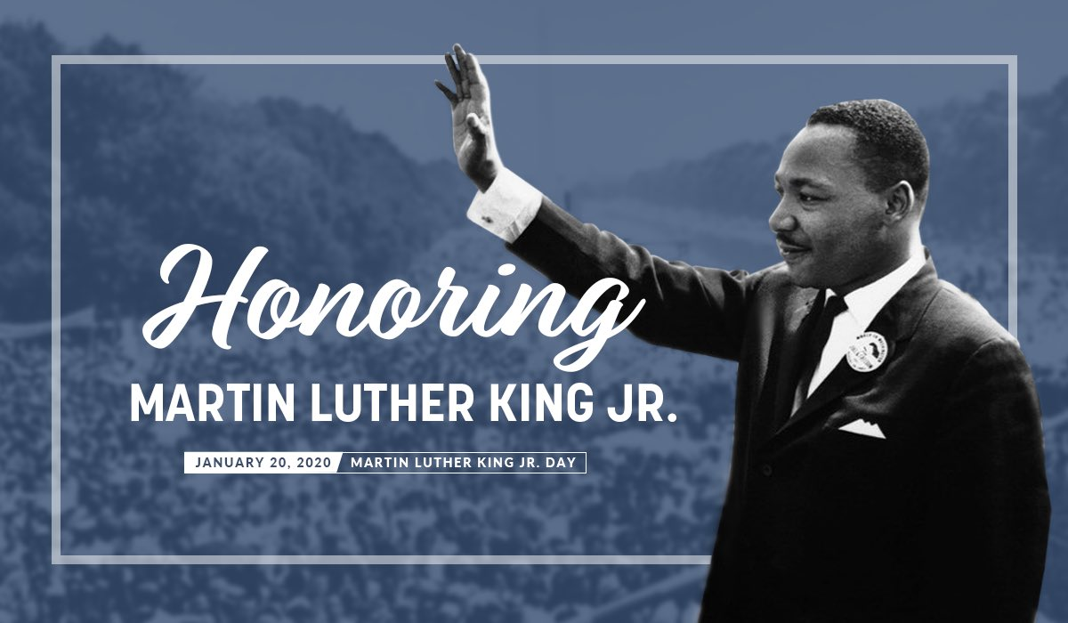 Remembering an American who fought for equality, freedom, and justice on this Martin Luther King, Jr. Day. #MLKDay2020