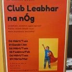 Image for the Tweet beginning: Club Leabhar na nÓg 21/01/2020