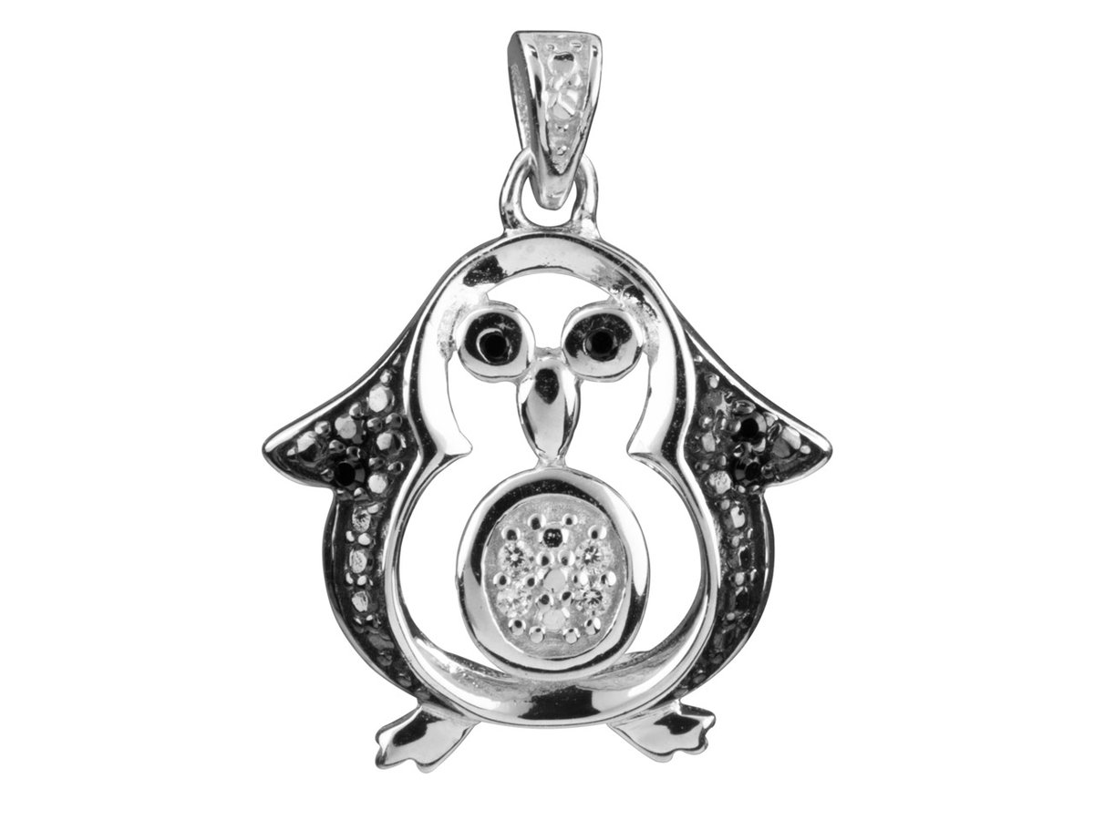 Have you spotted this Sterling Silver Penguin Pendant in our End of Season Sale?  It's only £8.74: https://bit.ly/2G7HG3G  This adorable, cut-out design penguin pendant features a cute penguin motif, set with black and white cubic zirconia and beaded details