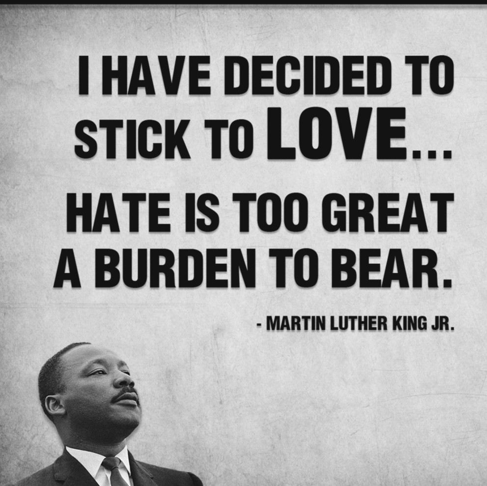 Simply said. I've made the same decision, Dr. King. Again, thank you. #MLKDay #MLKJr #MLKDay2020 #MayorLary