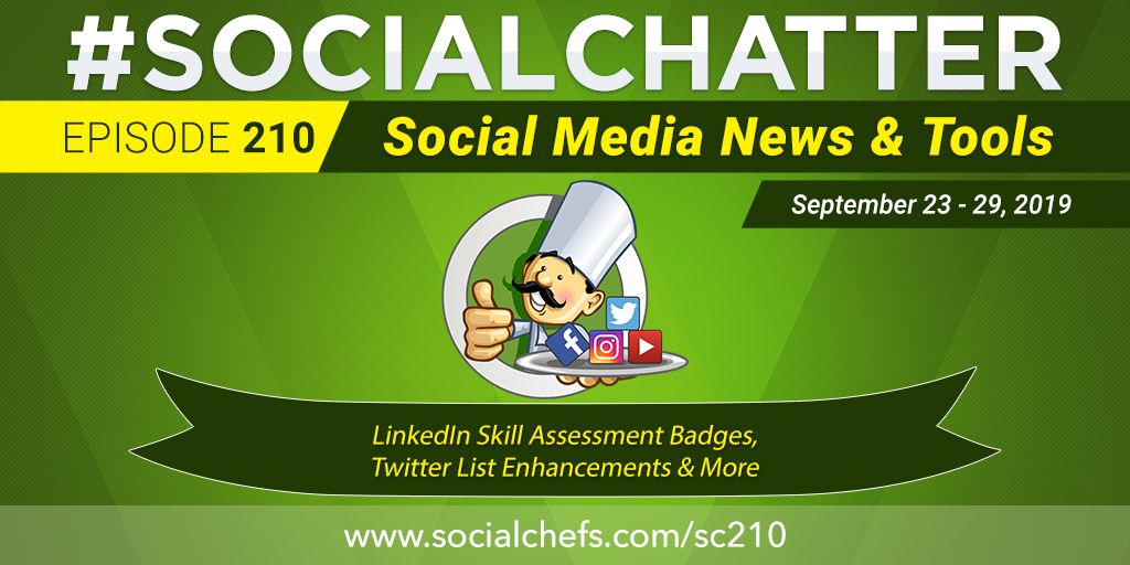 Overheard on #SocialChatter, your #socialmedia marketing news talk show w/ @ckroks @philgerb @fuhsionmktg:  ① LinkedIn profiles get skill assessments ② Enhanced Twitter lists ③ @manychat adds SMS, email features  https://buff.ly/2qjH0Ur   via @SocialChefspic.twitter.com/OVlW2oqF21