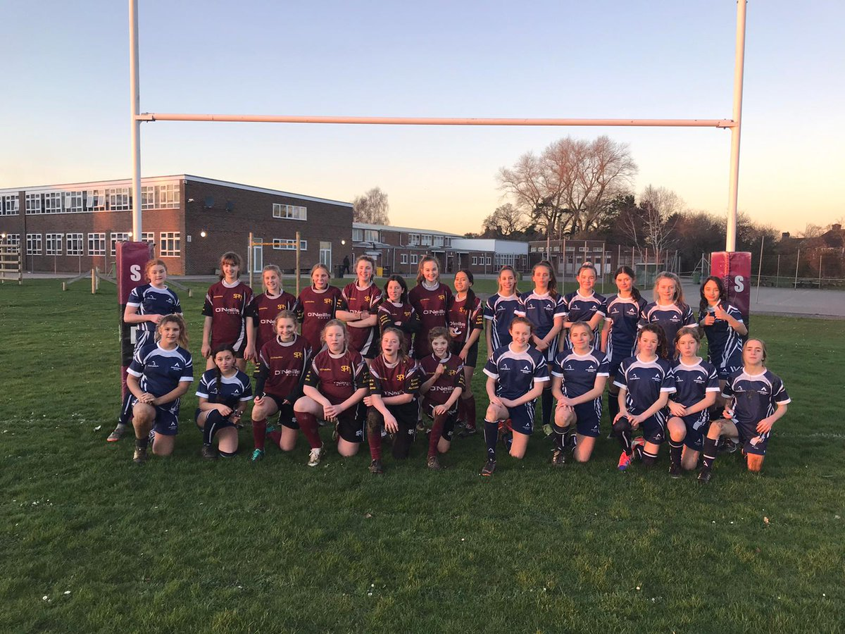 Well done to the U14 Girls Rugby team who played their first competitive fixture against @SPHPE