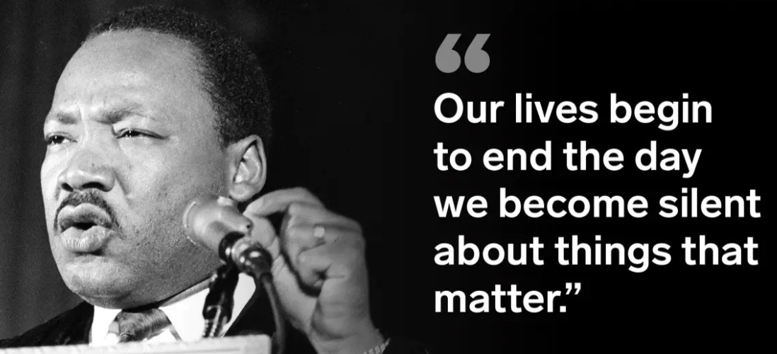 Our lives begin to end.  #MartinLutherKing #Quotes #MondayMotivation #MondayThoughts #MLKDay2021