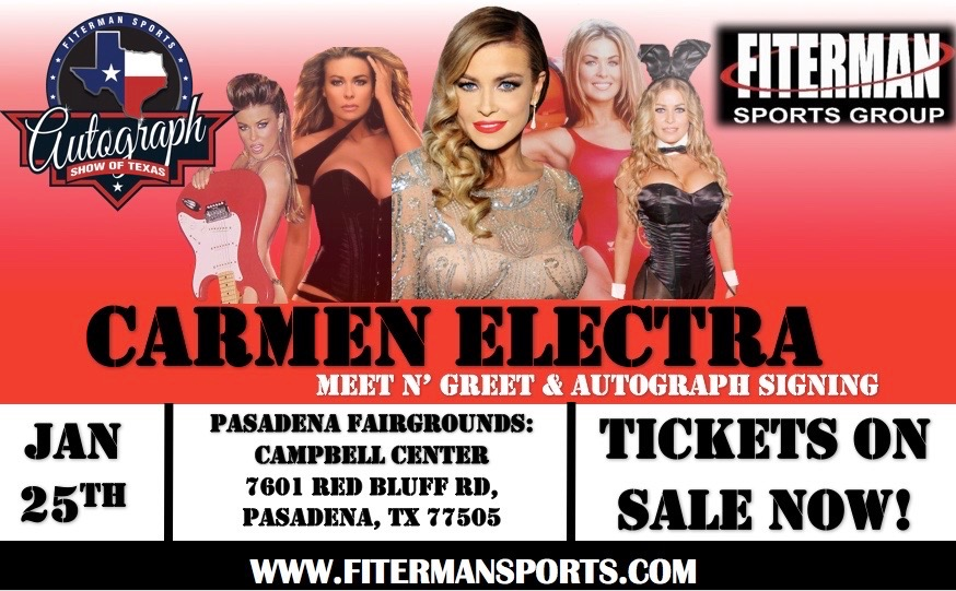 Come meet me at the Autograph Show of Texas hosted by @FitermanSports this weekend in Pasadena, Texas at the Pasadena Fairgrounds. More info at