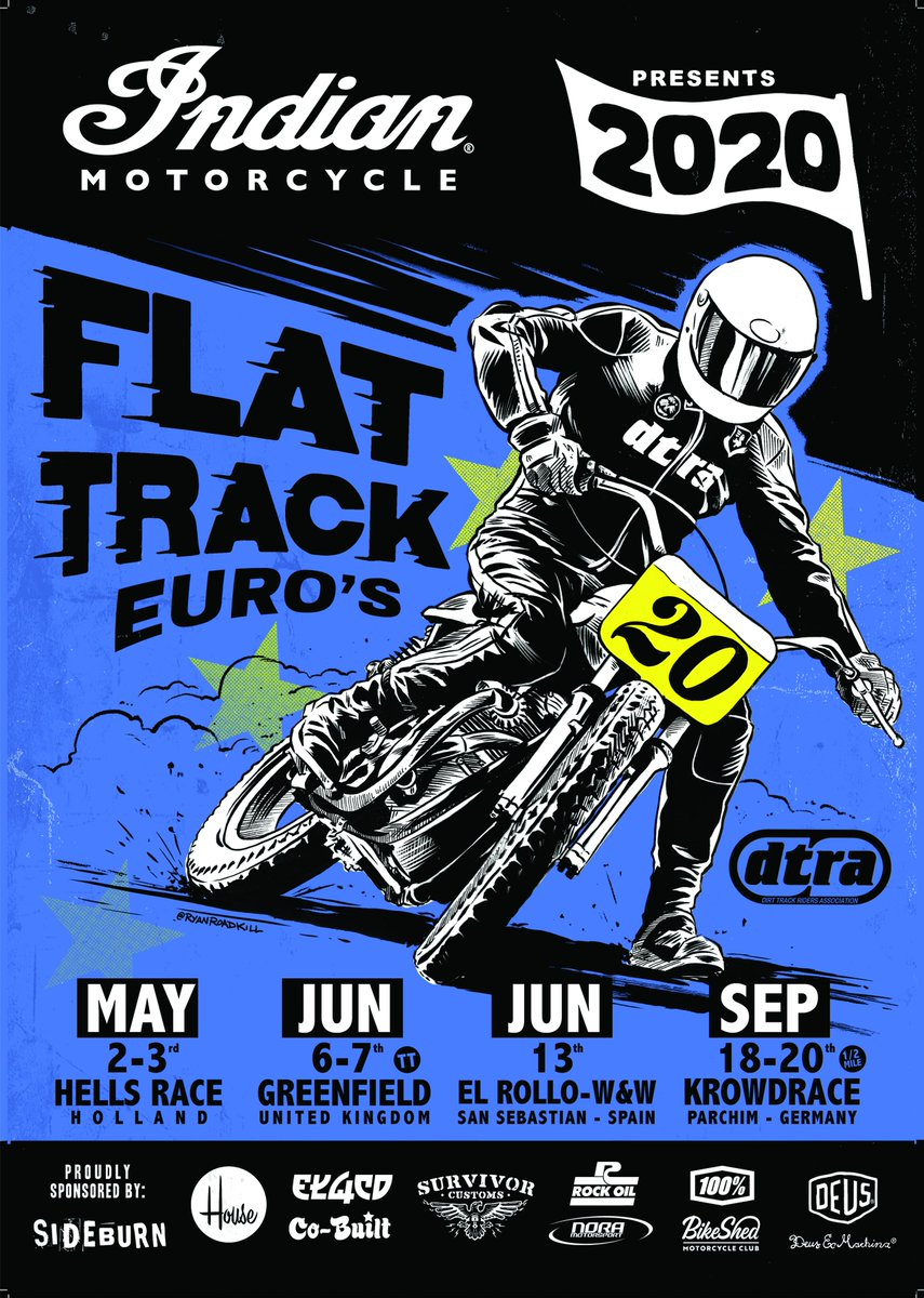 Press release: Indian Motorcycle Announces European Flat Track Series for 2020  https://t.co/k0soxyVbeY https://t.co/wXTmf0TijS