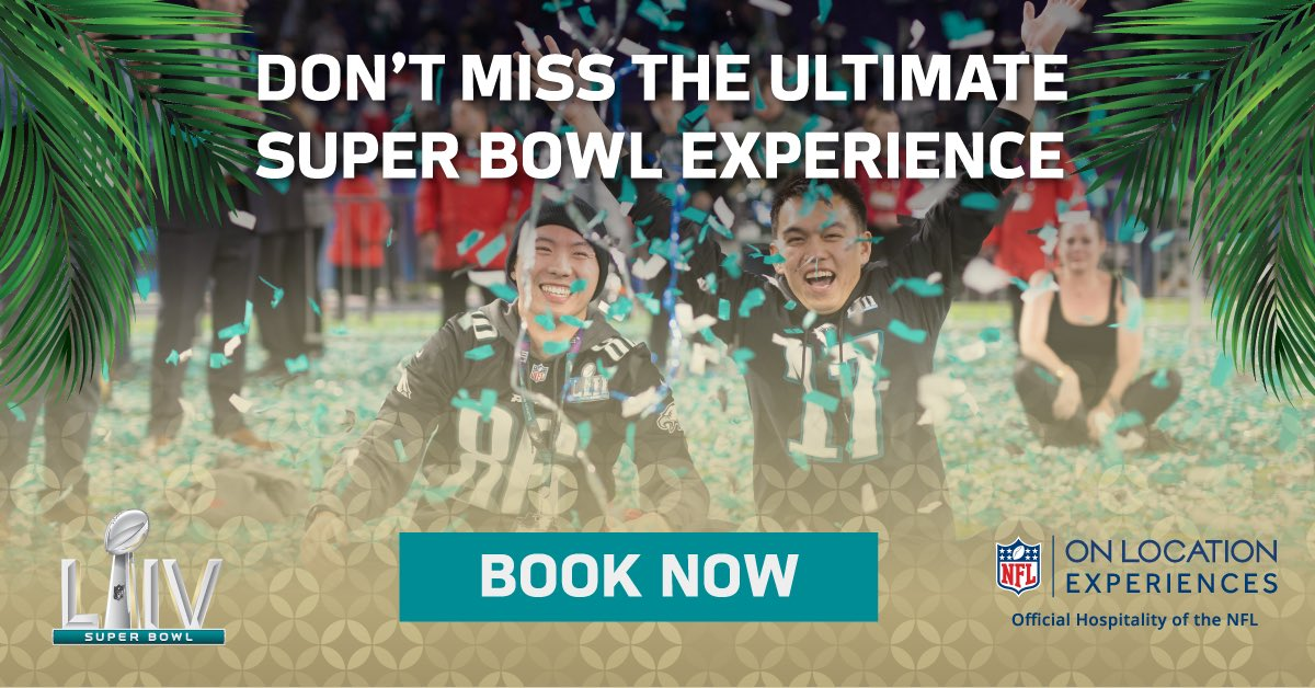 The matchup is set! @Chiefs vs @49ers for the Lombardi Trophy! Join me and @nflonlocation February 2 in Miami for the Ultimate Super Bowl LIV Experience from the Official Hospitality Partner of the NFL. Book your official ticket package today. bit.ly/2stq2Ef